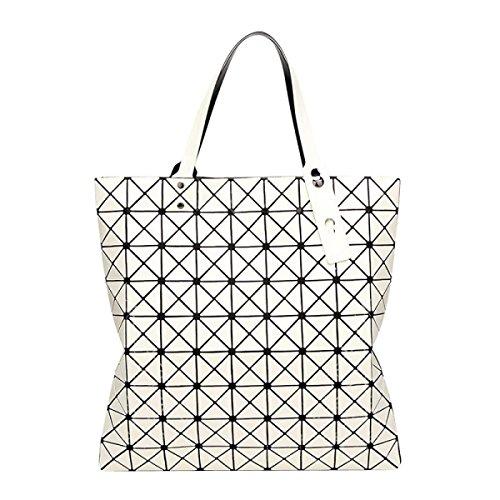 Frauen Variety Falttasche Geometric Umhängetasche White