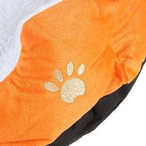 PANIER CORBEILLE NICHE COUSSIN MATELAS LIT CHIEN CHAT ANIMAUX 46*42*15cm petite Taille Orange