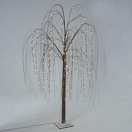 Weihnachtsdeko - LED-Baum Hängeweide Marron - 192 LEDs - Höhe ca. 200 cm