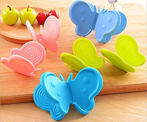 lexiegongmao 2/Set Liebenswürdig, Schmetterling Silikon Verbrühungsschutz Gerät Küche Tool Gadget zufällige - Und-geräte Küchen-gadgets