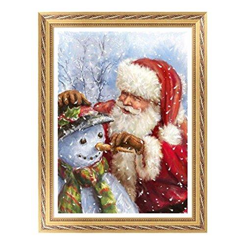 yinpinxinmao 5D DIY Weihnachts Santa Claus Schneemann Baum Diamong Gemälde Kreuzstich Craft Home Decor