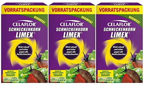 Celaflor - Produit anti-limaces Limex - Lot de 3 paquets de 1 kg