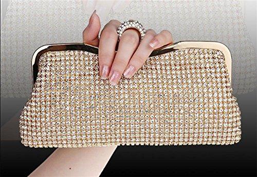 Diamond Diamond Dinner Bag Diamant-Handbohrer Diamond Lady Ball Bag Strass Clutch, Golden