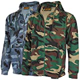 Search : Mens Mans Zip Up Camo Hoody Hooded Army Camouflage Top Hoodie Sizes S - 5XL
