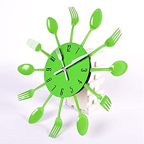 Home Decoration 3D Wall Clock Modern Stainless Steel Kitchen Wall Watch Quality Quartz Needle
