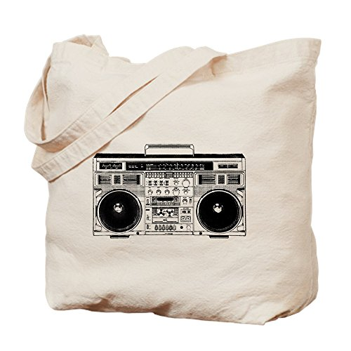 Boombox Ghettoblaster Natural Canvas Tote Bag
