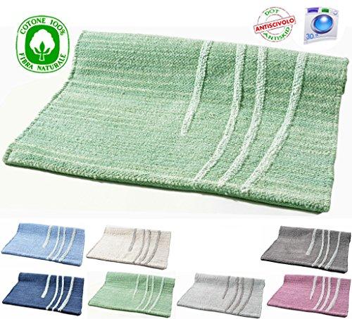 Alfombra de algodón lavable para baño o cocina, antideslizante, 50x 80/ 60x 120. Varios colores disponibles. Lavable en lavadora a 30°