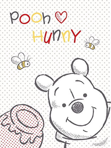 Winnie The Pooh - Coperta in plaid per neonati, 75x 100cm, unisex
