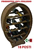 Mobile porta bottiglie cantinetta vino in legno 18 posti a botte per casa cantina cucina enoteca
