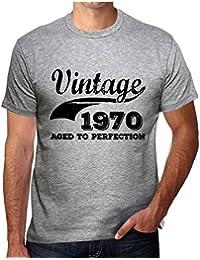 Vintage Aged to Perfection 1970, regalo cumpleaños hombre, camisetas hombre cumpleaños, vendimia añejado