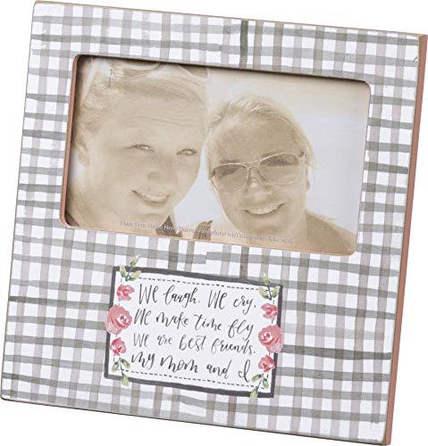 Primitives by Kathy Bilderrahmen, handbeschriftet, Aufschrift We Laugh Best Friend My Mom and I (Primitive Bilderrahmen)