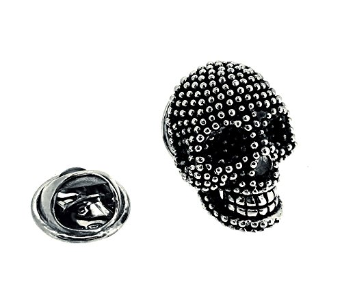 Gemelolandia Pin de Solapa Calavera Black and Steel Dotted