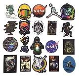 NASA Stickers for Laptop [100PCS], Pegatina Explorador de Espacio Calcomanías de Vinilo para Botella de Agua MacBook Coche Bicicleta Patineta Equipaje Astronauta Universo Pegatina de Graffiti
