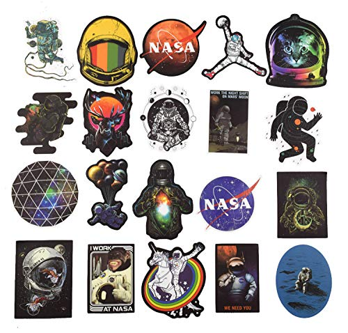100 pegatinas para maleta NASA Design