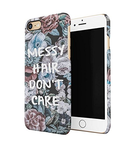 Messy Hair Don't Care Wild Flower Pattern Durable Hard Plastic Snap On Phone Case Cover Shell For iPhone 7 Handy Hülle