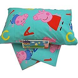 Peppa Pig Conjunto para Cama, 150x 300/90x 200/52x 80cm, Azul