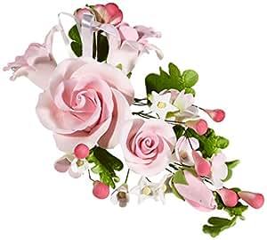 Cake Company Zuckerblumenboquet Rose 1 Stück ROSA 1er Pack (1 x 74 g)