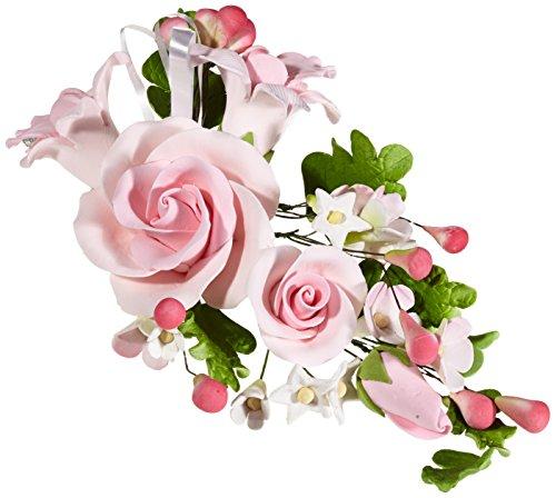 (Cake Company Zuckerblumenboquet Rose 1 Stück ROSA 1er Pack (1 x 74 g))