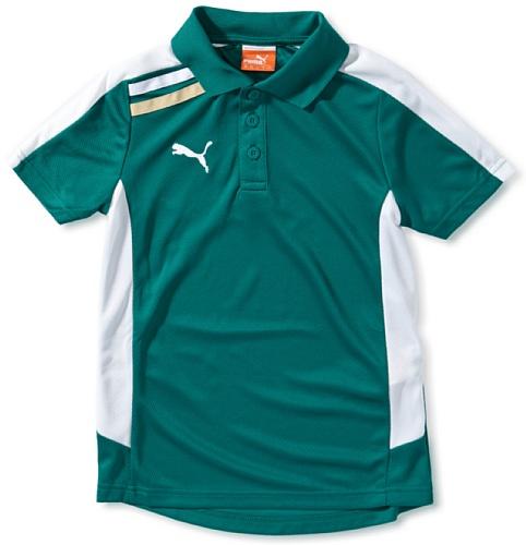 PUMA Kinder Poloshirt Esito team green-white