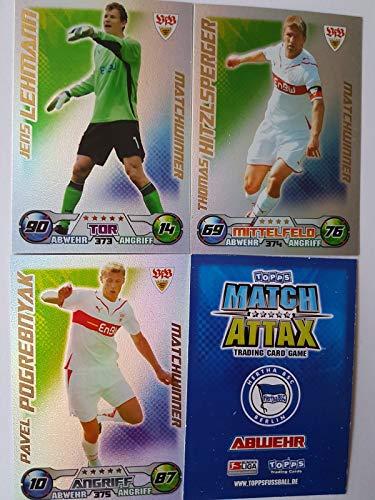 Match Attax Topps 2009 2010 - Trading Cards alle 3 Matchwinner - Stuttgart: Lehmann, Hitzlsperger, Pogrebnyak (Topps-fußball-2010)