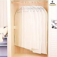 Cubiertas de ropa ,GKONGU 6 Piezas Protectores de ropa Bolsas de ropa Transparentes a prueba de polvo,3 Piezas 60 cm * 90 cm, 3 Piezas 60 cm * 100 cm