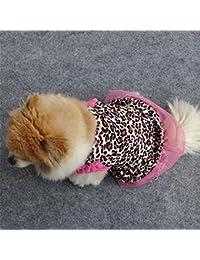Laurelmartina Vestido del Perro del Gato del Animal doméstico de la Manera punteó el Vestido sin