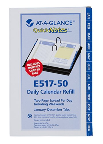 QUICKNOTES RECYCLED DESK CALENDAR REFILL, 3 1/2