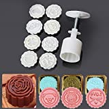 Bluelover 8 Styles Mooncake Moule Rond Fleur Outil Bricolage Décorer La Pâtisserie