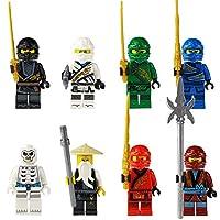 8PCS Ninja Doll Toys The Japanese Ninja Doll Set Assembly Building Blocks Toys for Children