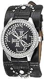 GUESS Heartbreaker Damen-Armbanduhr 36mm Armband Leder Schwarz Quarz W1140L1