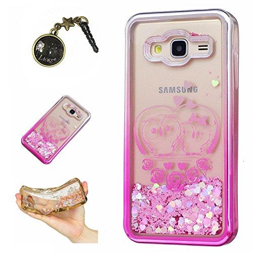 Preisvergleich Produktbild Laoke für Samsung Galaxy J3 (2016) J310 Hülle Schutzhülle Handy TPU Silikon Hülle Case Cover Durchsichtig Gel Tasche Bumper ( + Stöpsel Staubschutz) (8)