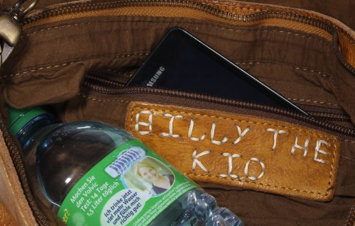 Billy the Kid Candy borsa a tracolla pelle 32 cm Honey
