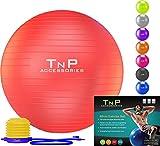 EXERCISE GYM YOGA SWISS BALL FITNESS PREGNANCY BIRTHING ANTI BURST BALLS 55CM / 65CM / 85CM + FOOT PUMP
