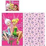 Disney Fairies Tinkerbell - 02 teiliges Set - Babybettwäsche Kinderbettwäsche - Kopfkissenbezug: 40 × 55 cm, Bettbezug: 90x140 cm, 100% Baumwolle - tolle Geschenkidee für Mädchen - Oeko Tex Standard 100