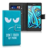 kwmobile Sony Xperia Z5 Compact Hülle - Kunstleder Wallet Case für Sony Xperia Z5 Compact mit Kartenfächern und Stand