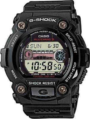 CASIO G-Shock GW-7900-1ER - Reloj de caballero de cuarzo, correa de resina color negro (con radio, cronómetro, luz)