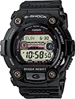 G-Shock GW-7900-1ER Men's Quartz Watch with Grey Dial - Digital Display and Black Resin Strap