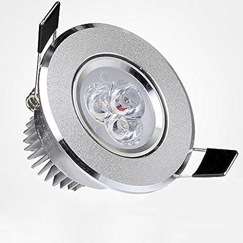 LED Kleine Scheinwerfer Decke Wohnzimmer 3W Deckenleuchten Downlight Downlight Schaukasten Lampe Mini Licht Loch 55-60mm Downlights ( Color : Warm light (7 Black Außen Sconce)
