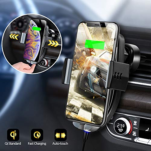 Olycism Fast Wireless Car Charger Mount 7 5W Compatible with iPhone XR XS  Max X 8 Plus 10W for Galaxy Note 9 S9 S9+ S8 S8+ Note 8 5W for Qi-enabled