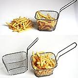 Rameng- Mini Paniers à Frites Individuels en INOX Plats de Service à Frites...