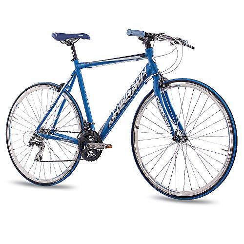 "28\"" RENNRAD FITNESS BIKE ALU FAHRRAD CHRISSON AIRWICK 2015 mit 24G ACERA 56cm blau matt - 71,1 cm (28 Zoll)"