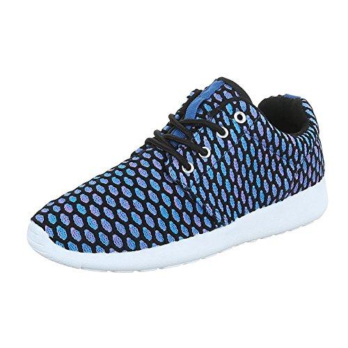 Ital-Design, Sneaker donna Blau SW15715
