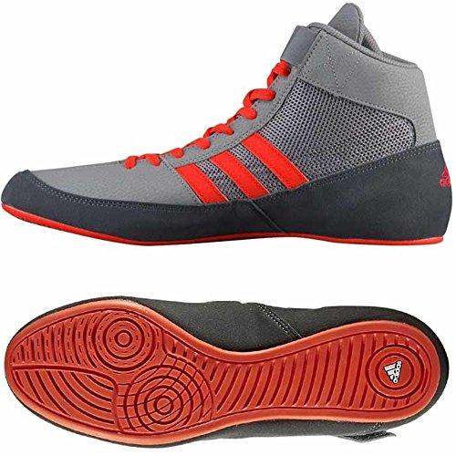 2769f56e1e8e AdidasBoxing Adidas Havoc K Junior Wrestling Boxing Boot - Grey Orange (5.5)