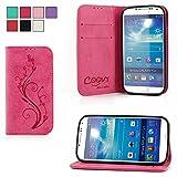 COOVY Étui pour Samsung Galaxy S4 GT-i9500 GT-i9505 GT-i9506 Coque, boîte de Carte...