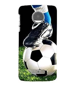 Football The Greatest Sport of All TIME 3D Hard Polycarbonate Designer Back Case Cover for Motorola Moto Z::Motorola Moto Z Droid