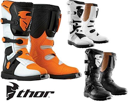 Thor Off Road Boots S14 BLITZ MX Motorrad Stiefel Moto Cross Quad Rennstiefel Enduro Sportschuhe - White - 11