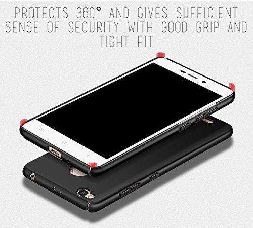 "Tapfond (TM) All Sides Protection ""360 Degree"" Sleek Quicksand Matte Hard Back Case Cover For XIAOMI MI REDMI 3S PRIME/PLUS - Sandstone Black"