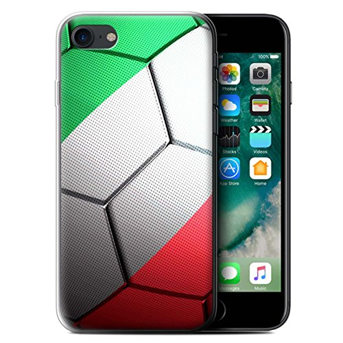 Stuff4 Gel TPU Hülle / Case für Apple iPhone X/10 / Brasilien Muster / Fußball Nationen Kollektion Italien