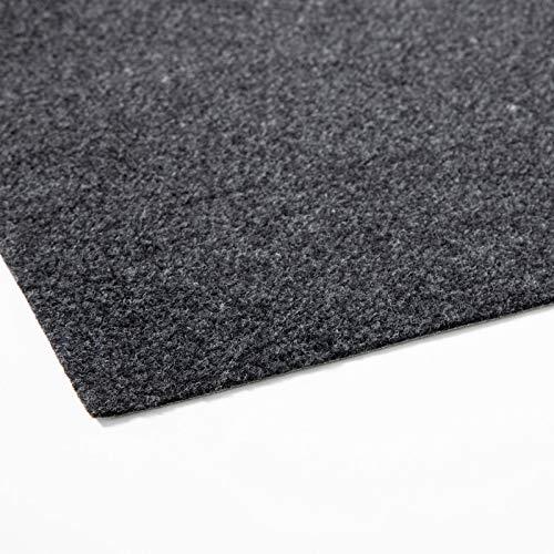 Rasenteppich Farbwunder Pro | Balkonteppich | Kunstrasenteppich für Terrasse, Balkon und Freizeit | Erhältlich in 7 Farben (200 x 250 cm, Schwarz)