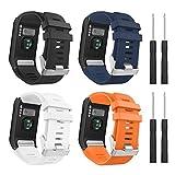 MoKo Bracelet Compatible avec Garmin Vivoactive HR, [Lot de 4] en Silicone Souple Seulement pour Garmin Vivoactive HR Sports GPS Montre Intelligente avec des Outils d'adaptateur,Coloré 1
